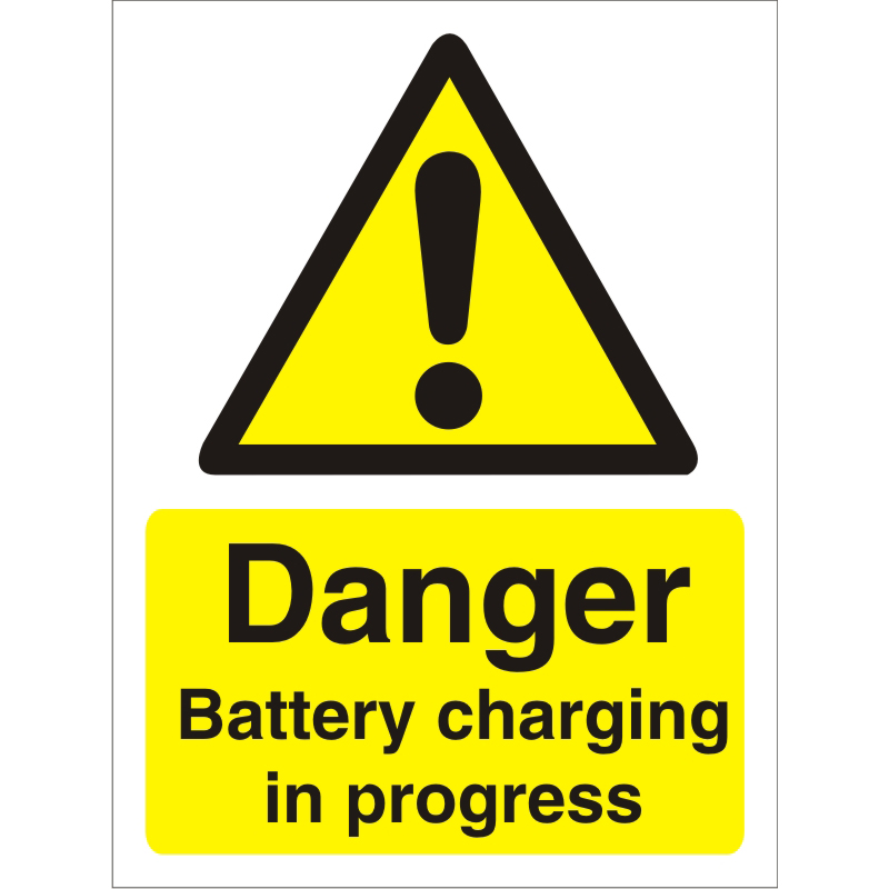 Warning Sign 300x400 1mm Plastic Danger - Battery charging Ref W0192SRP-300x400 Up to 10 Day Leadtime