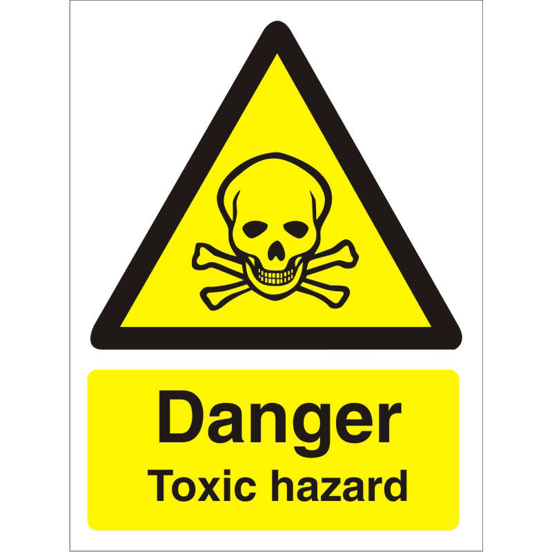 Warning Sign 300x400 1mm Plastic Danger - Toxic hazard Ref W0194SRP-300x400 *Up to 10 Day Leadtime*