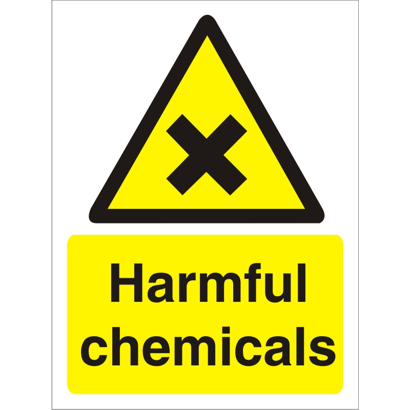 Image for Warning Sign 300x400 1mm Plastic Harmful chemicals Ref W0198SRP-300x400 Up to 10 Day Leadtime