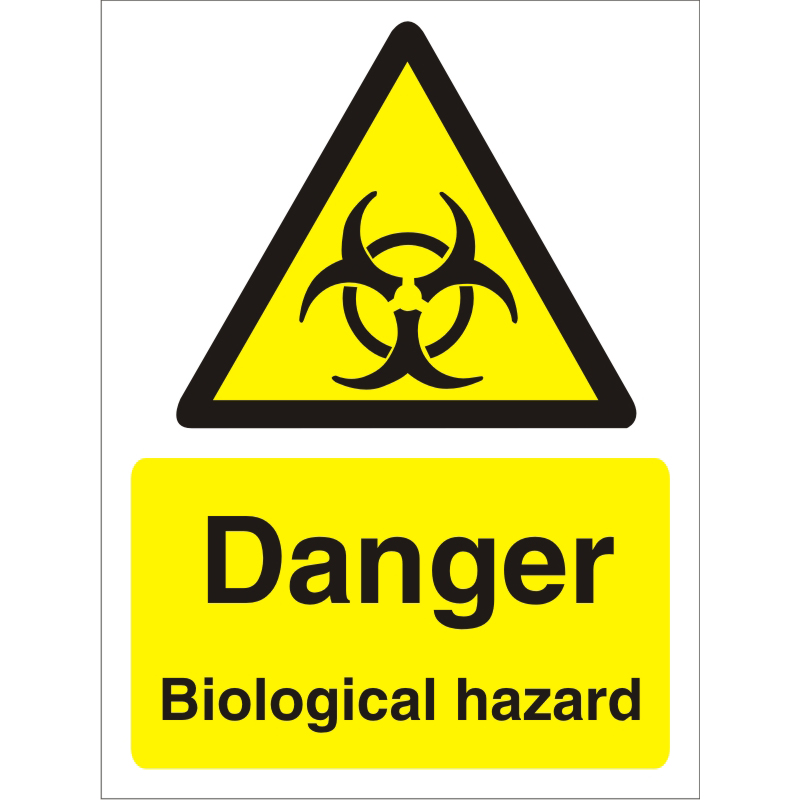 Warning Sign 300x400 1mm Plastic Danger - Biological hazard Ref W0204SRP-300x400 *Up to 10 Day Leadtime*
