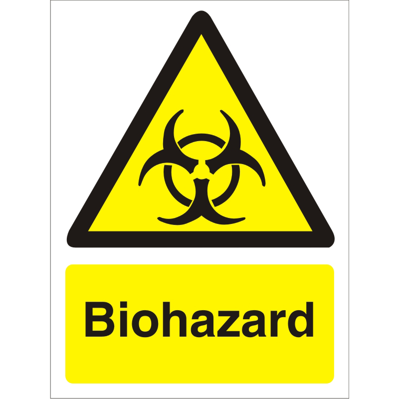 Warning Sign 300x400 1mm Semi Rigid Plastic Biohazard Ref W0205SRP-300x400 *Up to 10 Day Leadtime*