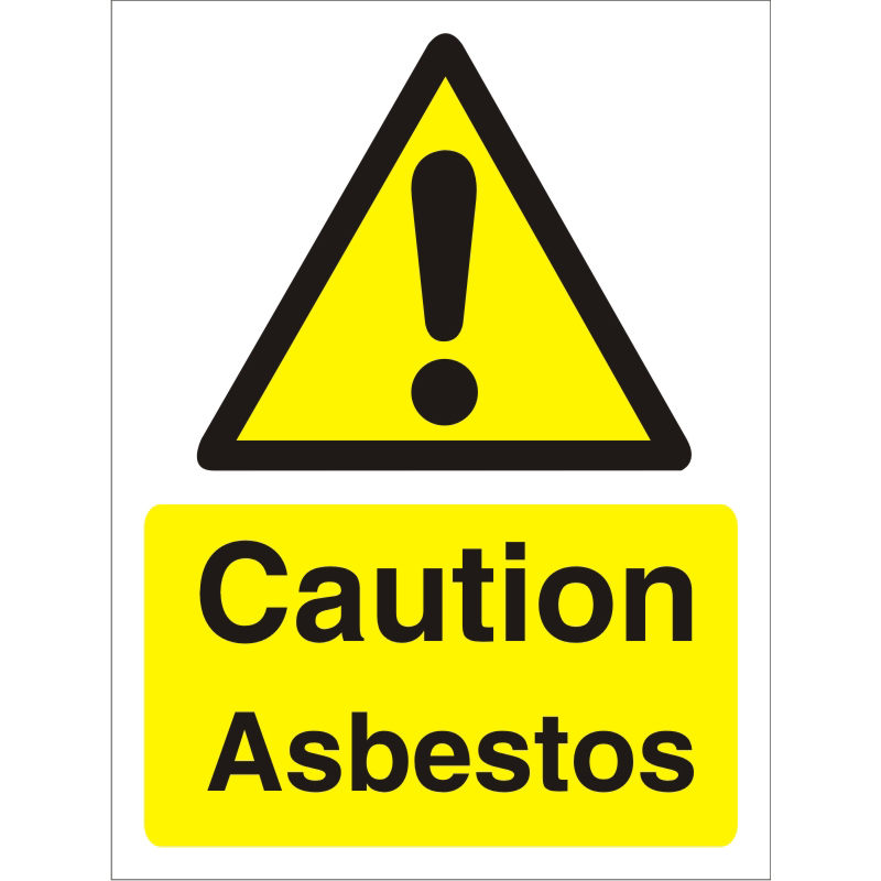 Warning Sign 300x400 1mm Plastic Caution - Asbestos Ref W0206SRP-300x400 *Up to 10 Day Leadtime*