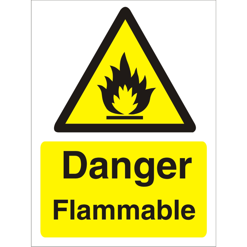 Warning Sign 300x400 1mm Plastic Danger - Flammable Ref W0211SRP-300x400 Up to 10 Day Leadtime