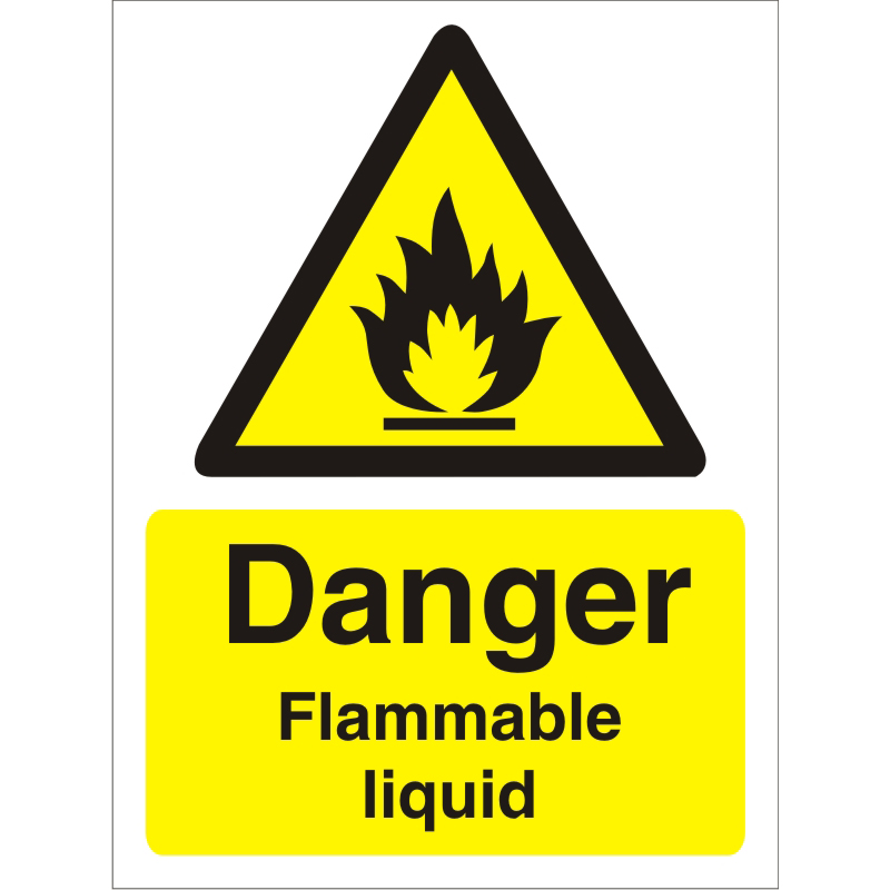 Warning Sign 300x400 1mm Plastic Danger - Flammable liquid Ref W0219SRP-300x400 *Up to 10 Day Leadtime*