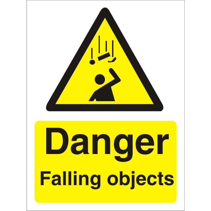 Warning Sign 300x400 1mm Plastic Danger - Falling objects Ref W0241SRP-300x400 *Up to 10 Day Leadtime*