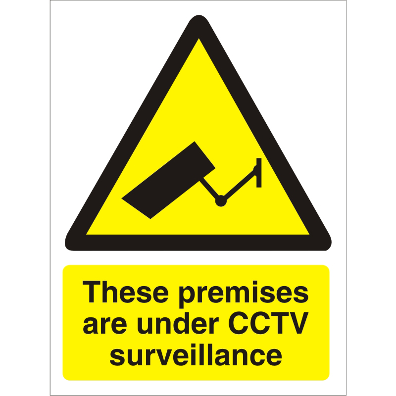 Image for Warning Sign 300x400 1mm Plastic These premises under CCTV Ref W0271SRP-300x400 Up to 10 Day Leadtime
