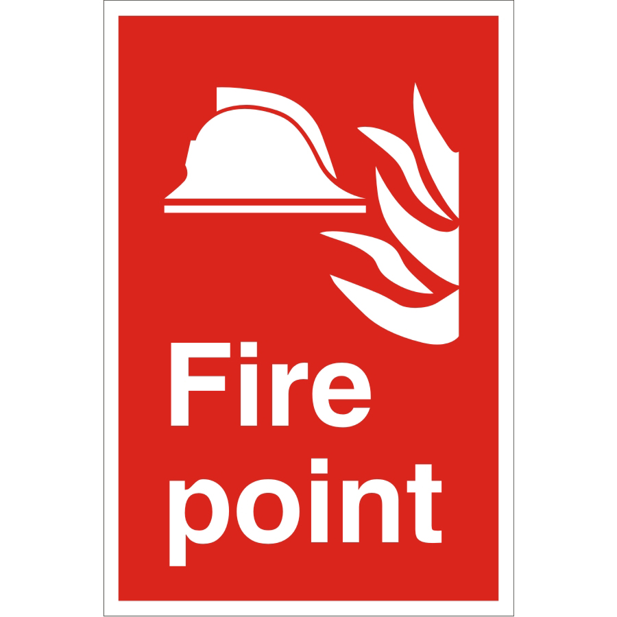 Warehouse Sign 400x600 1mm Semi Rigid Plastic Fire point Ref WPF02SRP-400x600 *Up to 10 Day Leadtime*