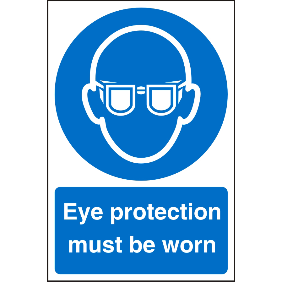 Warehouse Sign 400x600 Plastic Eye protection must be worn Ref WPM02SRP400x600 *Up to 10 Day Leadtime*