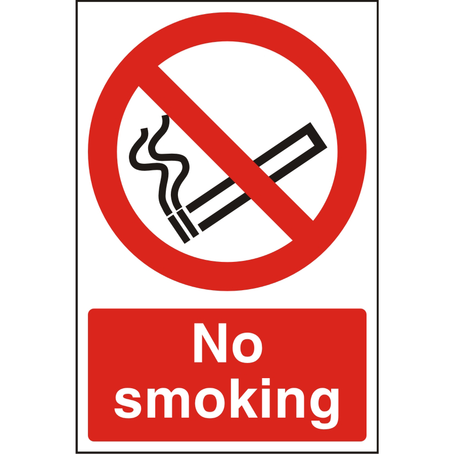 Warehouse Sign 400x600 1mm Semi Rigid Plastic No smoking Ref WPP04SRP-400x600 *Up to 10 Day Leadtime*