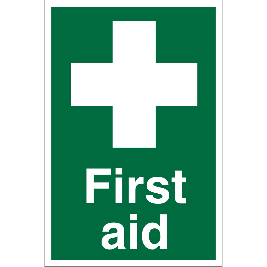 Warehouse Sign 400x600 1mm Semi Rigid Plastic First aid Ref WPS01SRP-400x600 *Up to 10 Day Leadtime*