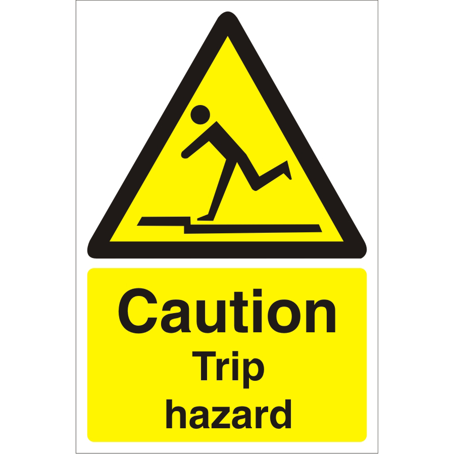 Warehouse Sign 400x600 1mm Plastic Caution trip hazard Ref WPW04SRP-400x600 *Up to 10 Day Leadtime*