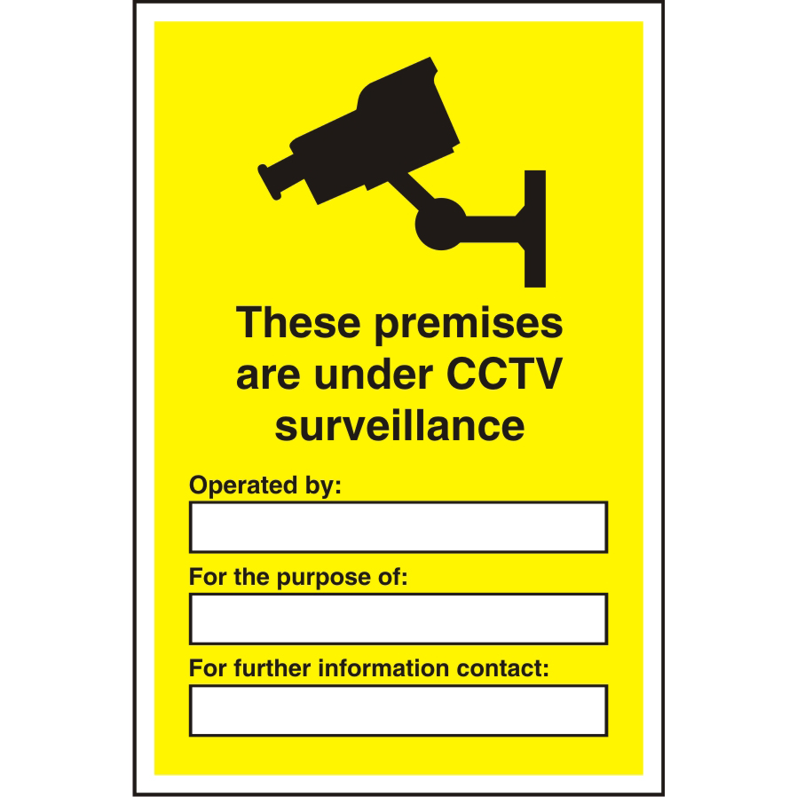Warehouse Sign 400x600 1mm Plastic These premises under CCTV Ref WPW08SRP400x600 *Up to 10 Day Leadtime*