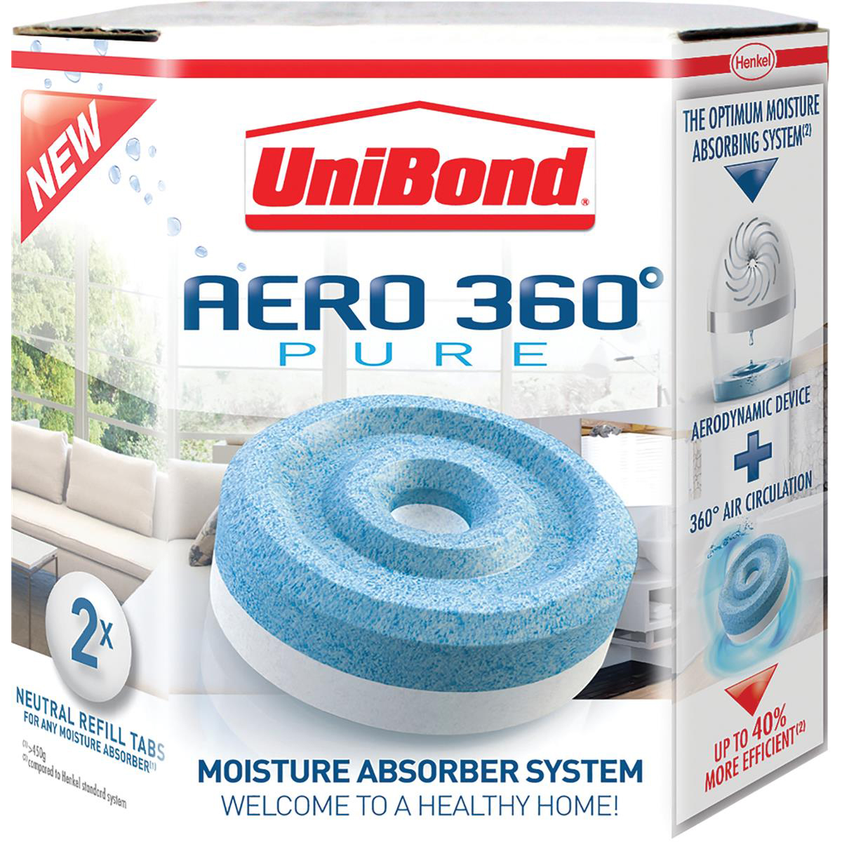 UniBond Aero 360 Moisture Absorber Refill Pure Ref 2106199 Pack 4