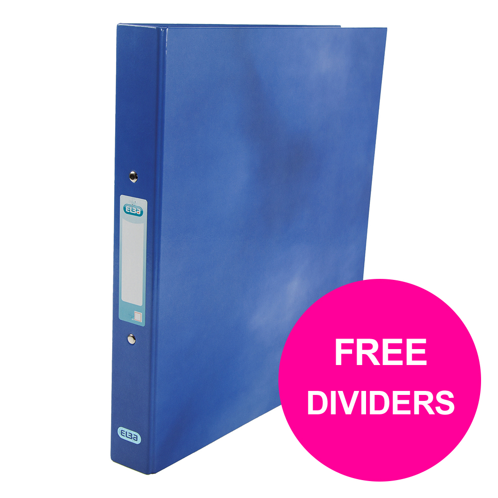 Ring binder Elba Classy Ring Binder 25mm Cap A4+ Blue Ref 400017754_XX1220 FREE Dividers Jan 12/20