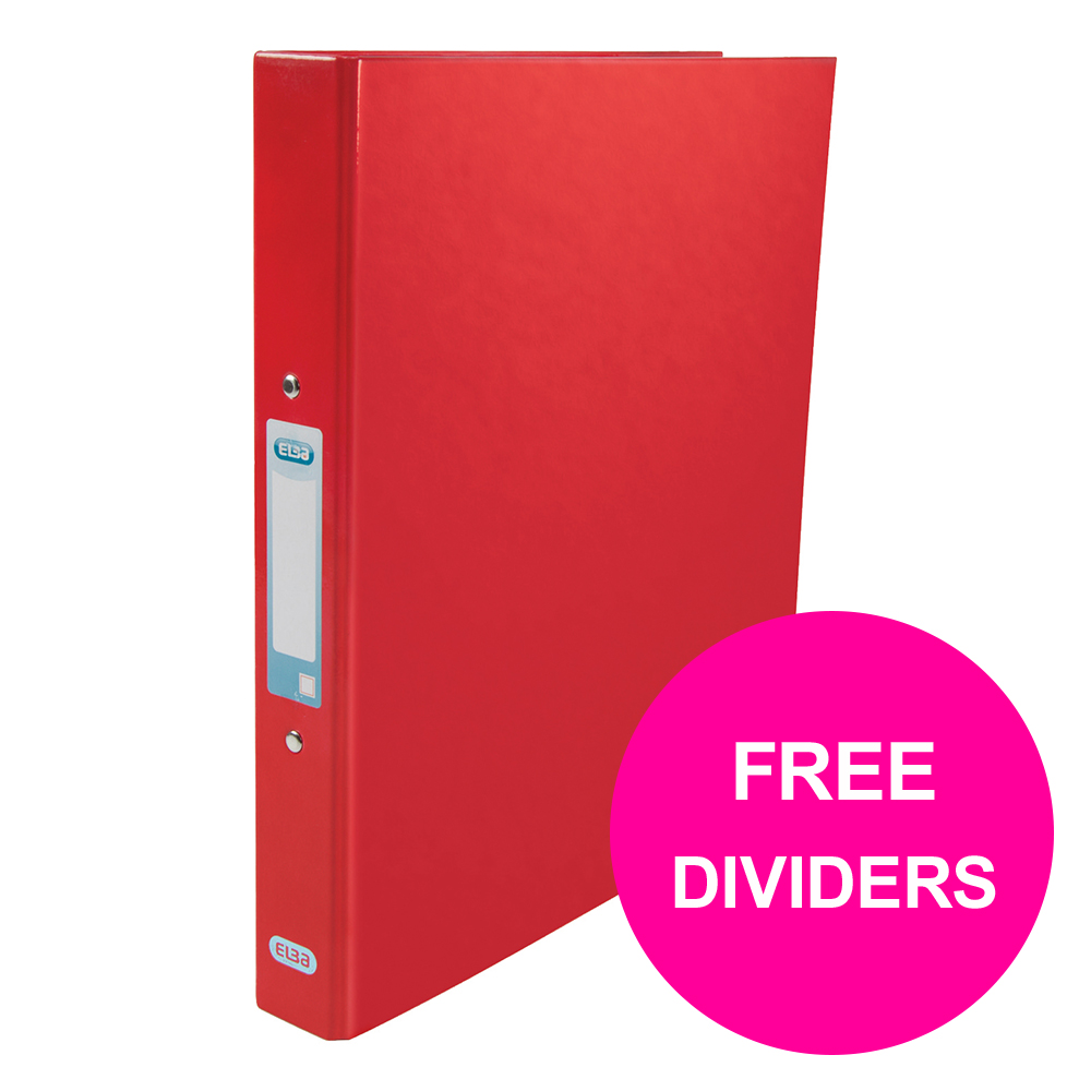 Ring binder Elba Classy Ring Binder 25mm Cap A4+ Red Ref 400017755_XX1220 FREE Dividers Jan 12/20