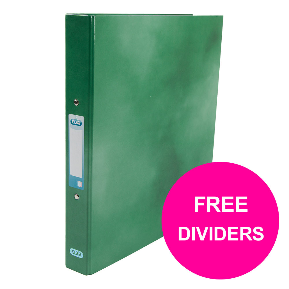 Ring binder Elba Classy Ring Binder 25mm Cap A4+ Green Ref 400017756_XX1220 FREE Dividers Jan 12/20