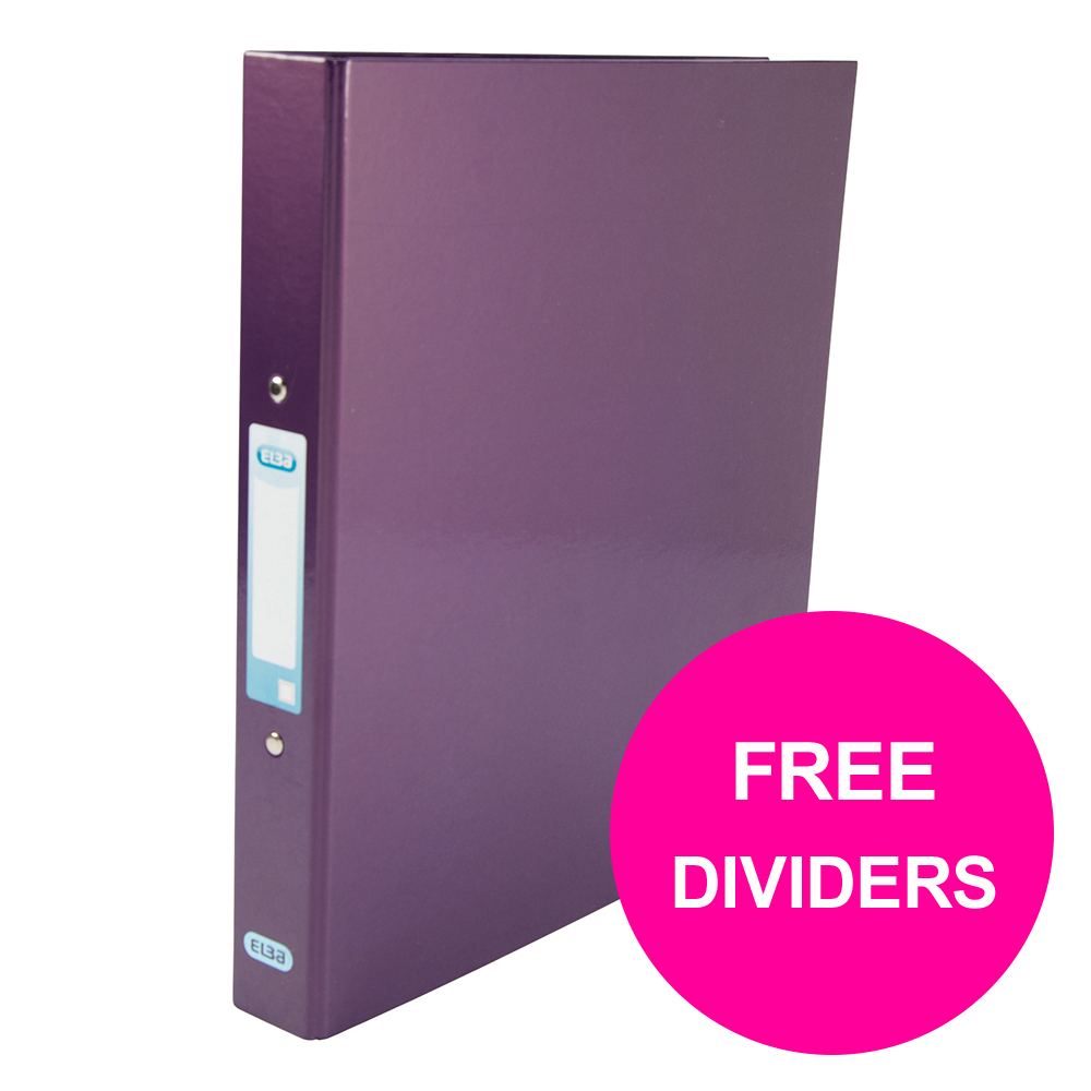 Ring binder Elba Classy Ring Binder 25mm Cap A4+ Met Purp Ref 400017758_XX1220 FREE Dividers Jan 12/20