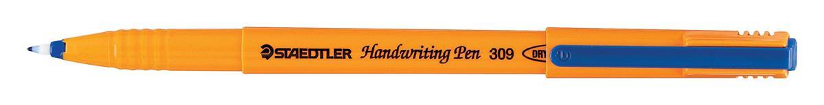 Staedtler 309 Handwriting Pen Fibre Tipped Blue Ref 309-3 [Pack 100] [Bulk Pack] Jan-Dec 2017