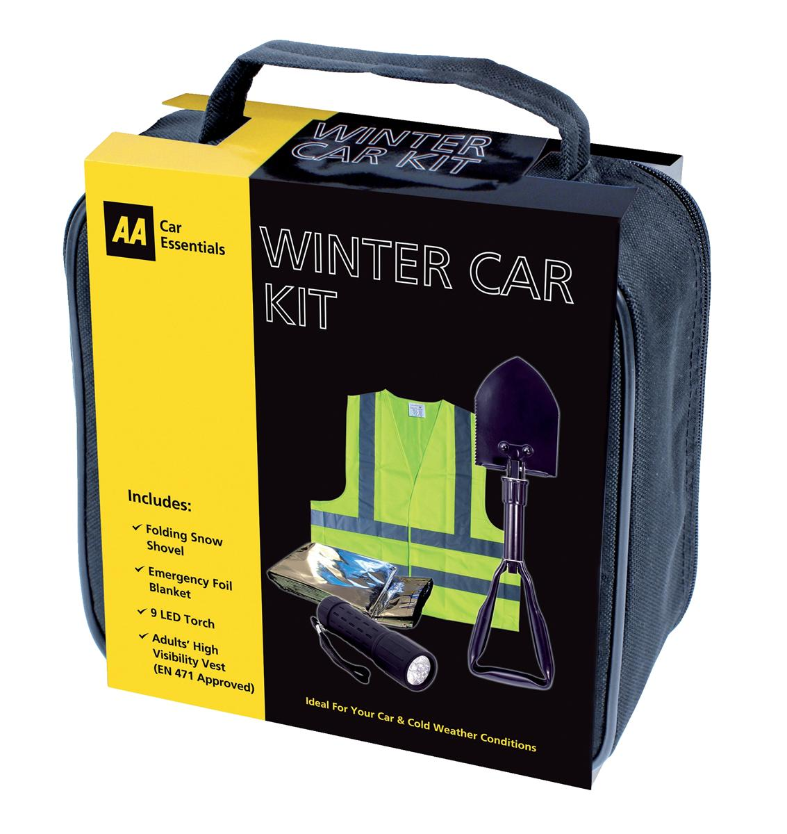 Image for AA Winter Car Kit Contains Snow Shovel/Vest/Emergency Blanket and Dynamo Torch Ref 5060114513386