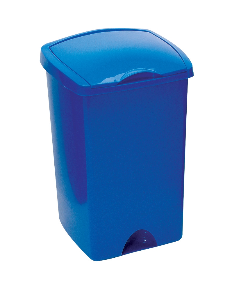 Addis Lift Up Lid Bin Plastic 50 Litres Blue