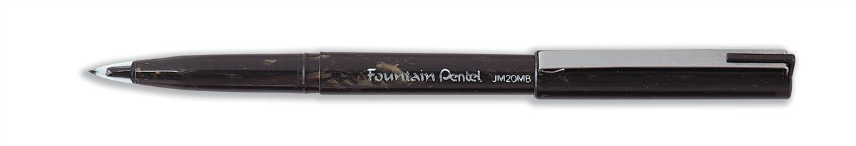 Pentel JM20 Fountain Pen Disposable with Adjusting Nib 0.3-0.4mm Line Black Ref JM20MB-A [Pack 12]