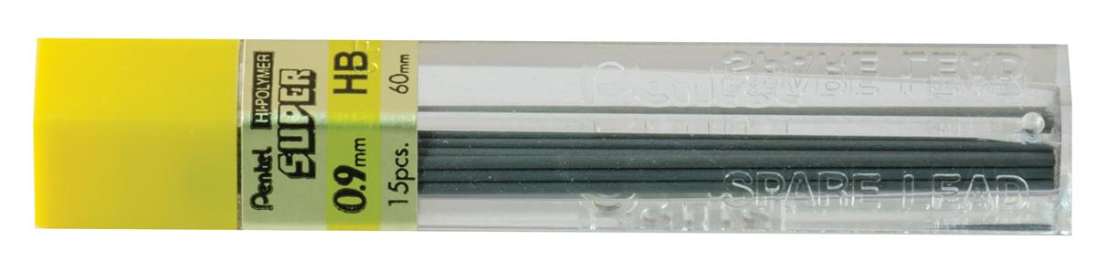 Refill Lead Extra-strong Hi-polymer in Tube of 12 x HB 0.9mm [12 Tubes]