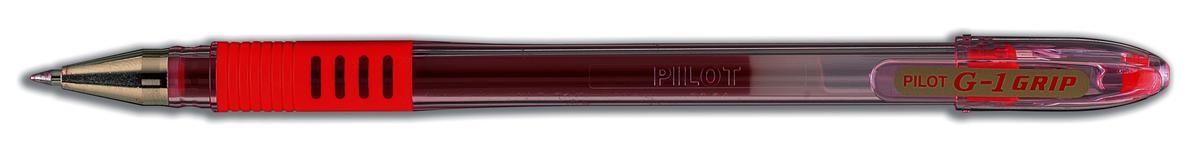 Pilot G-107 Grip Gel Rollerball Pen Fine 0.7mm Tip 0.4mm Line Red Ref BLGPF10702 [Pack 12]