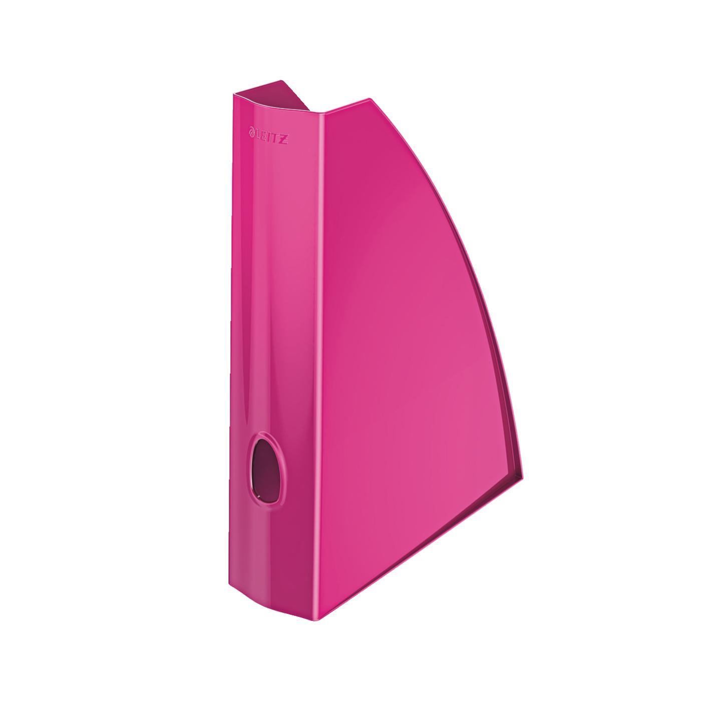 Magazine Files Leitz WOW Magazine File A4 Metallic Pink Ref 52771023
