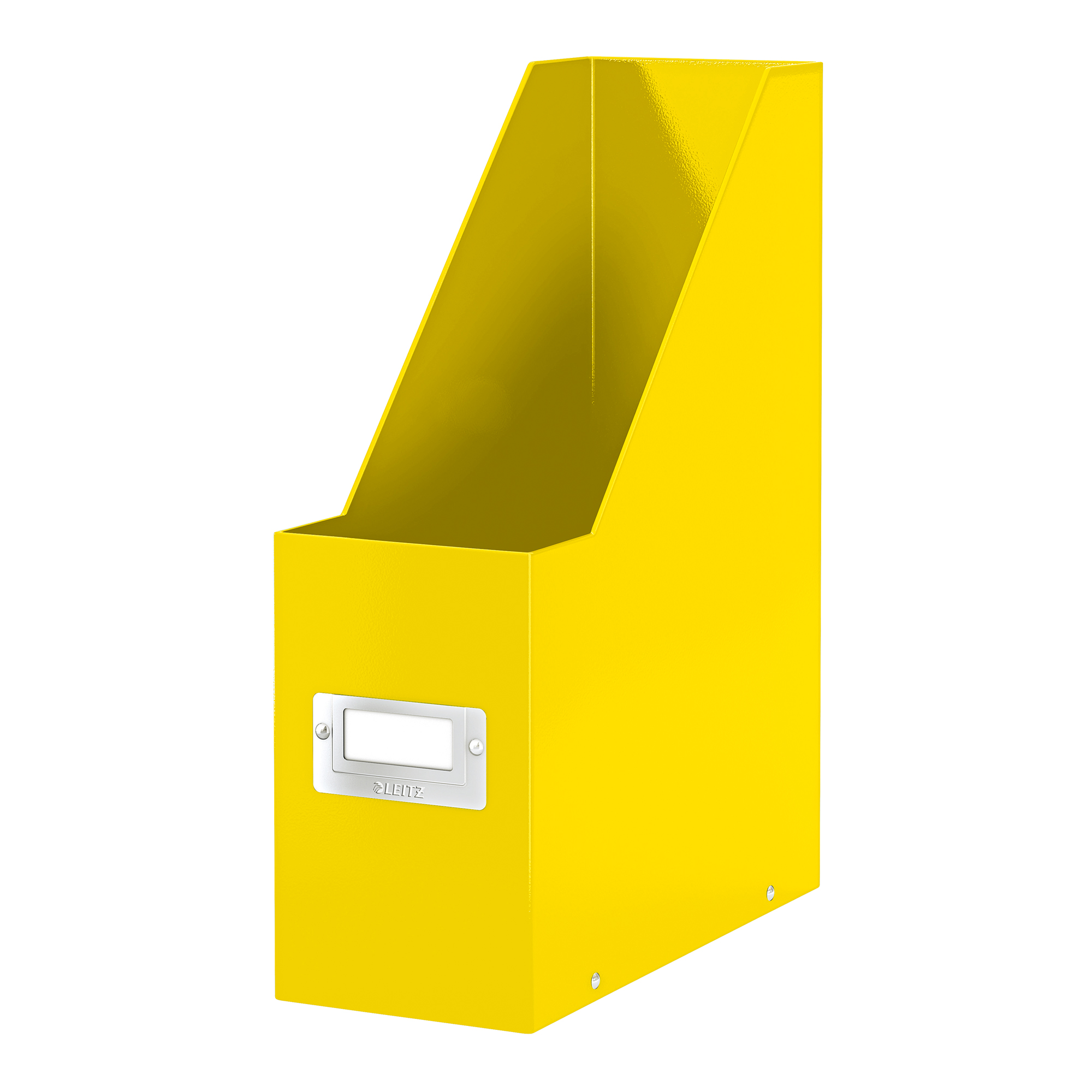 Literature rack Leitz Click & Store Magazine File Collapsible Yellow Ref 60470016