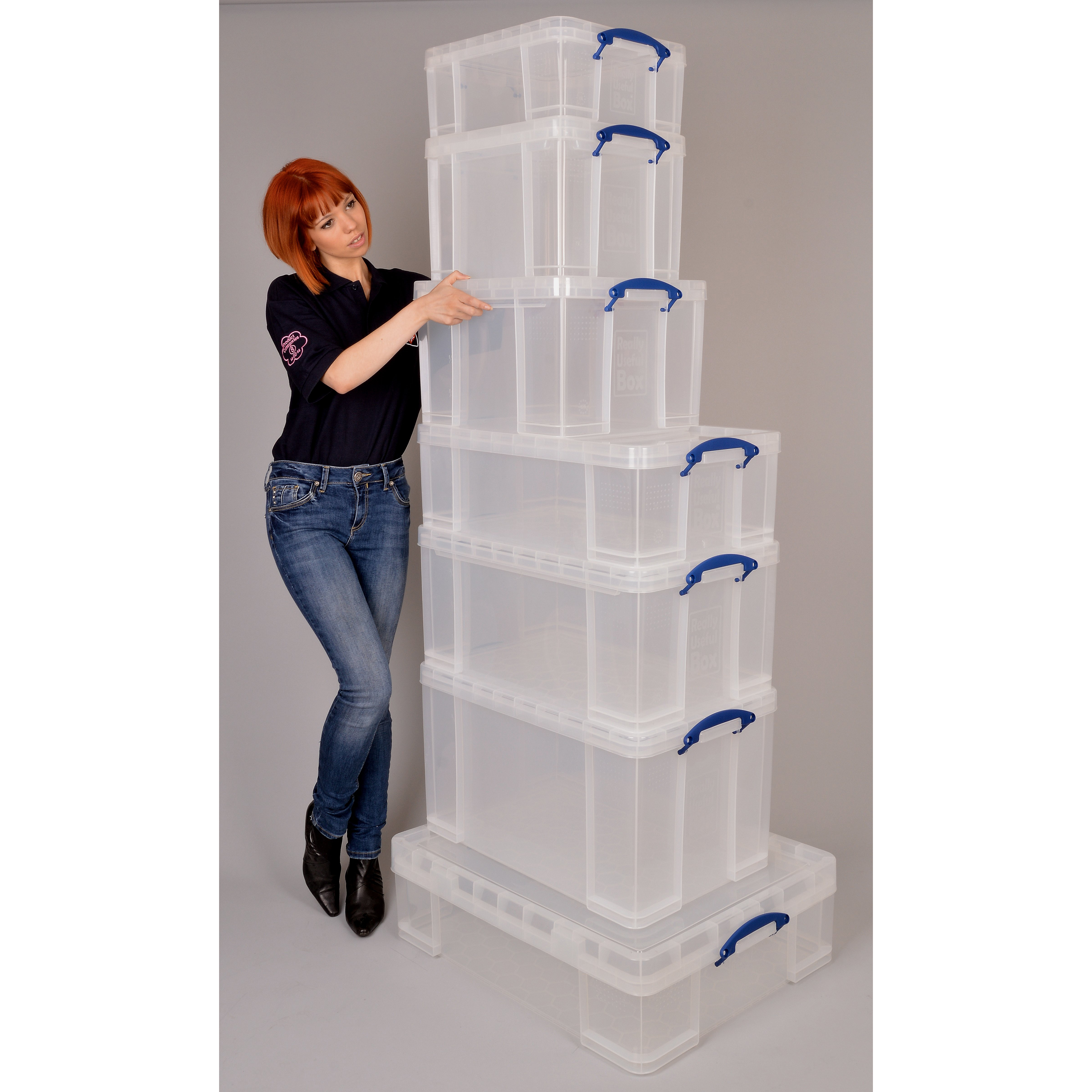 Really Useful Storage Box Plastic Lightweight Robust Stackable 84 Litre W440xD710xH380mm Clear Ref 84C