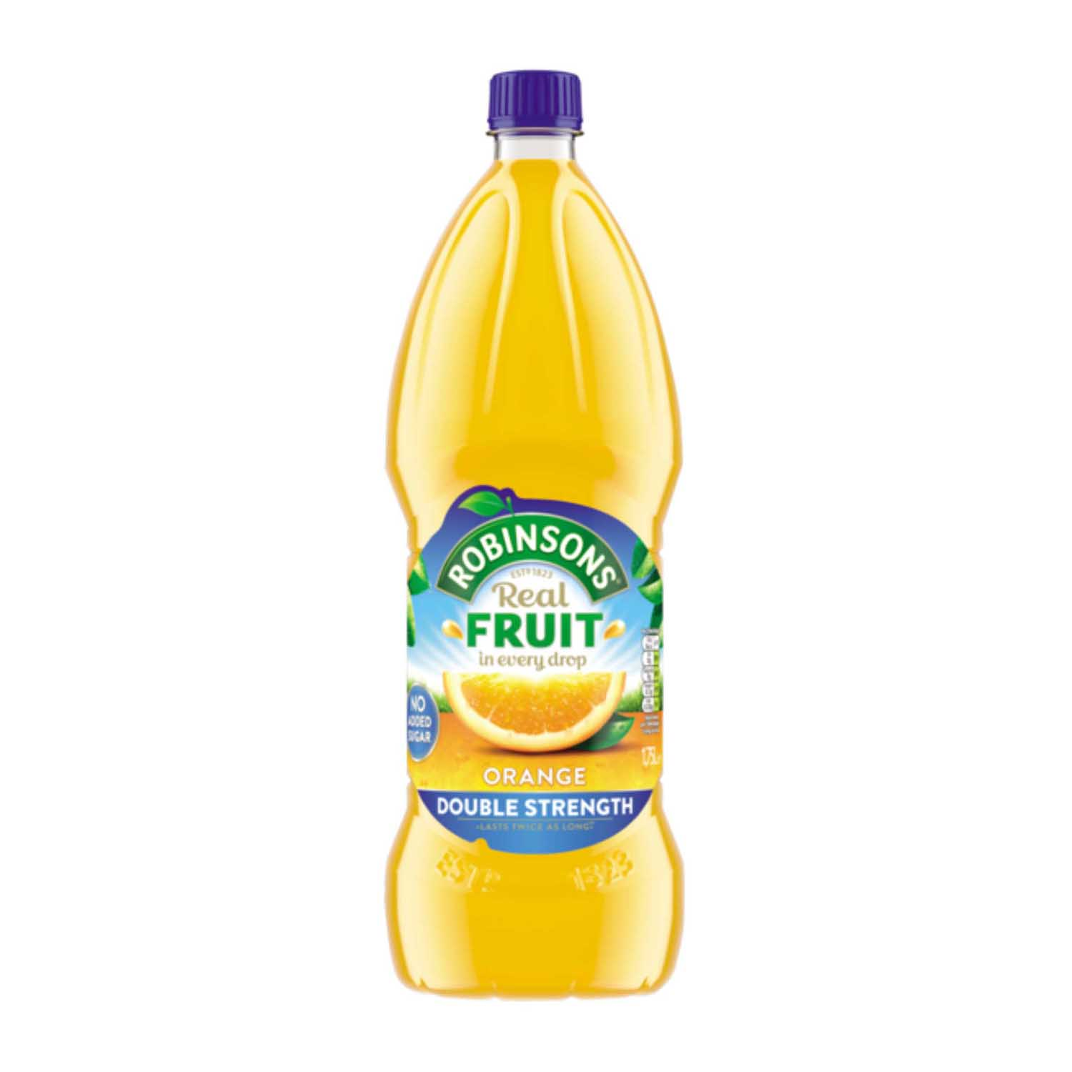 Robinsons Squash Double Concentrate No Added Sugar 1.75 Litres Orange Ref 200659 Pack 2