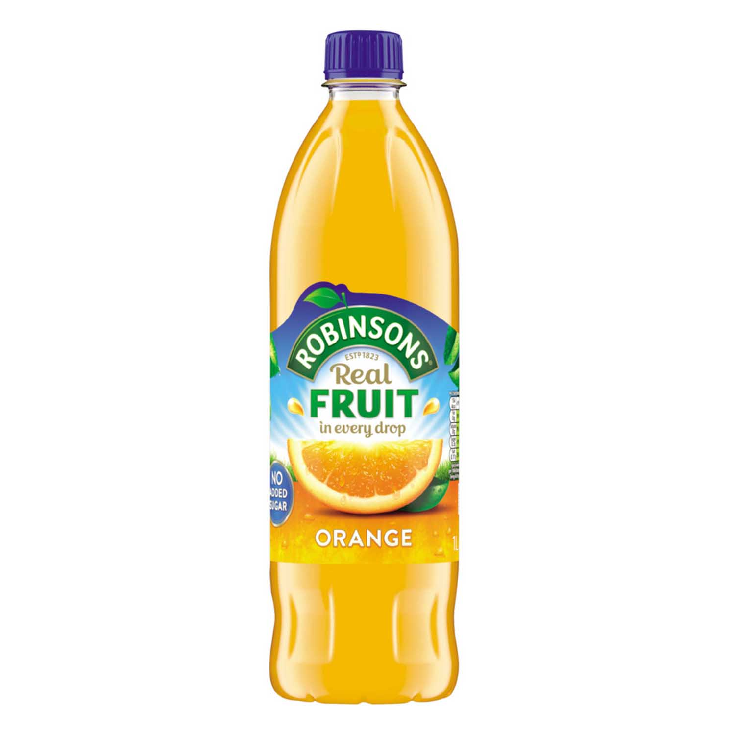 Robinsons Squash No Added Sugar 1 Litre Orange Ref 0402012 Pack 12