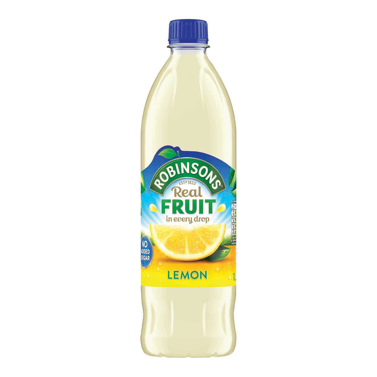 Robinsons Squash No Added Sugar 1 Litre Lemon Ref 0402044 Pack 12