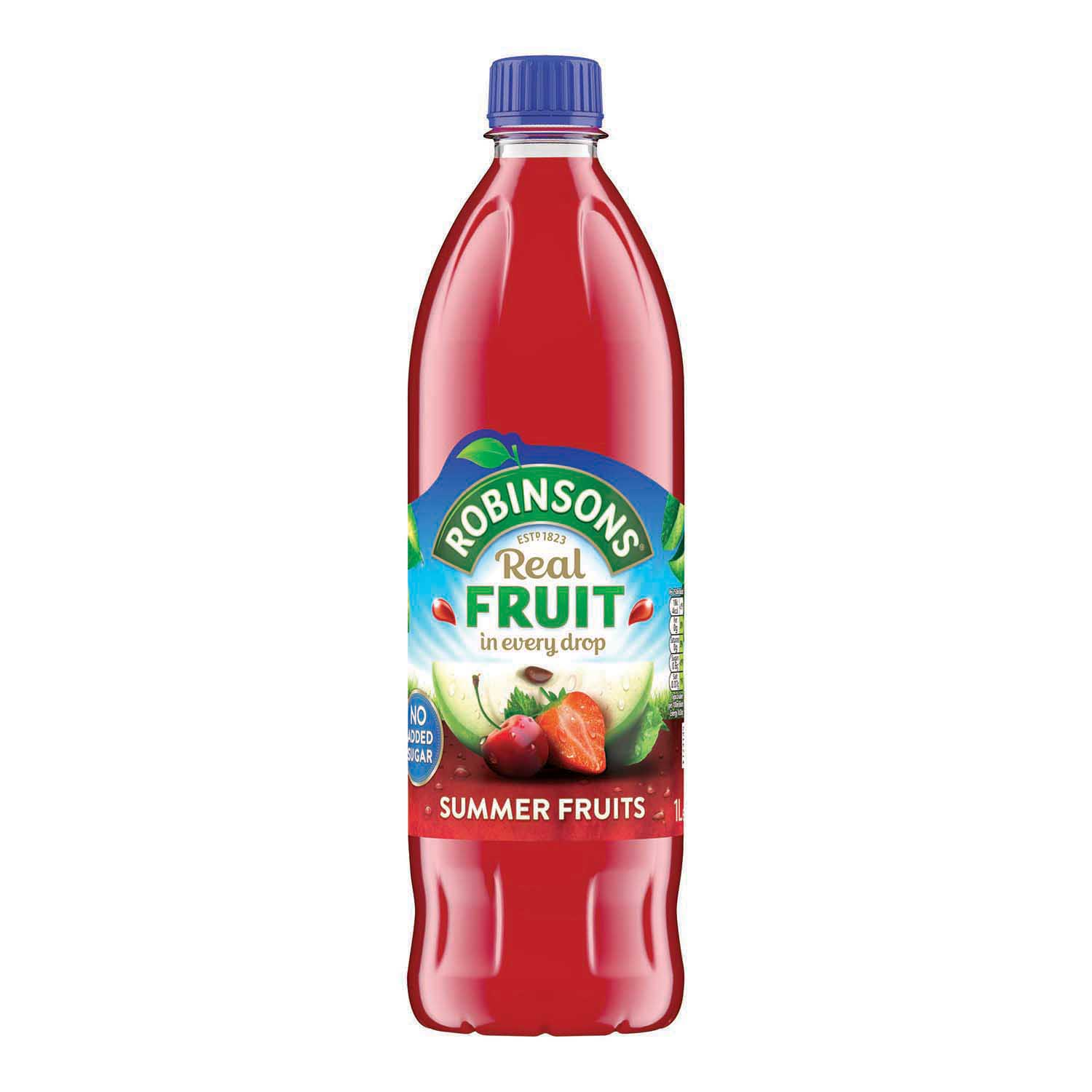 Robinsons Squash No Added Sugar 1 Litre Summer Fruits Ref 0402017 Pack 12