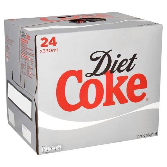 Coca Cola Diet Coke Soft Drink Can 330ml Ref N000978 Pack 24