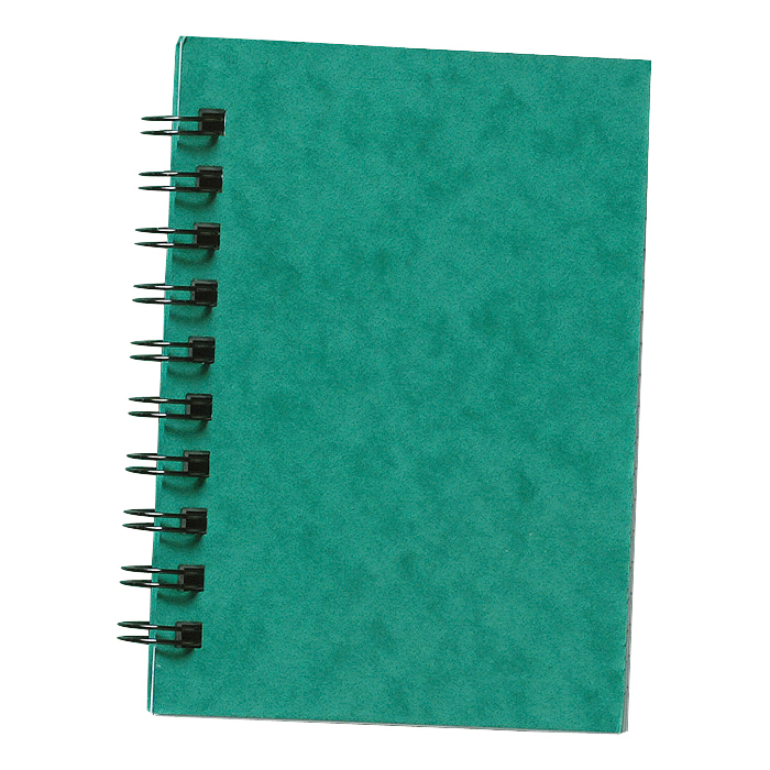Silvine Notebook Twinwire Sidebound 75gsm Ruled 200pp A6 Green Ref SPA6 [Pack 12]