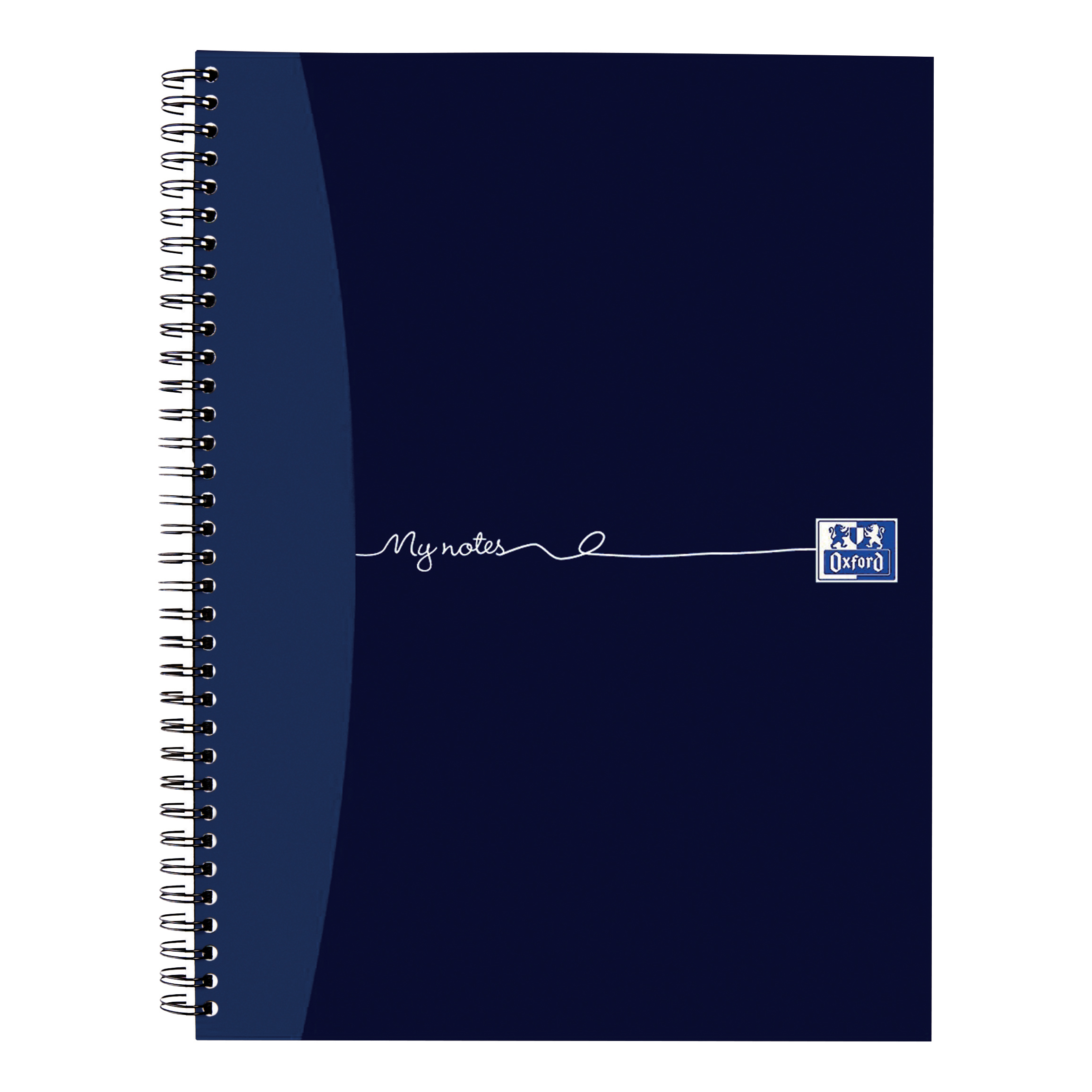 Oxford MyNotes Notebook Wirebound 90gsm Ruled Margin Perf Punched 4 Holes 100pp A4 Ref 400020193 [Pack 5]