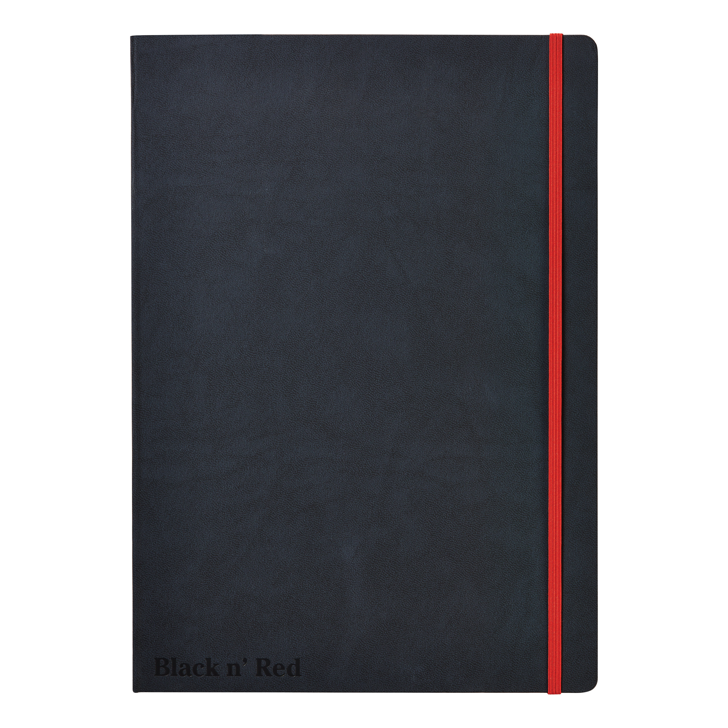 Black By Black n Red Casebound Notebook 90gsm Ruled and Numbered 144pp A4 Ref 400038675