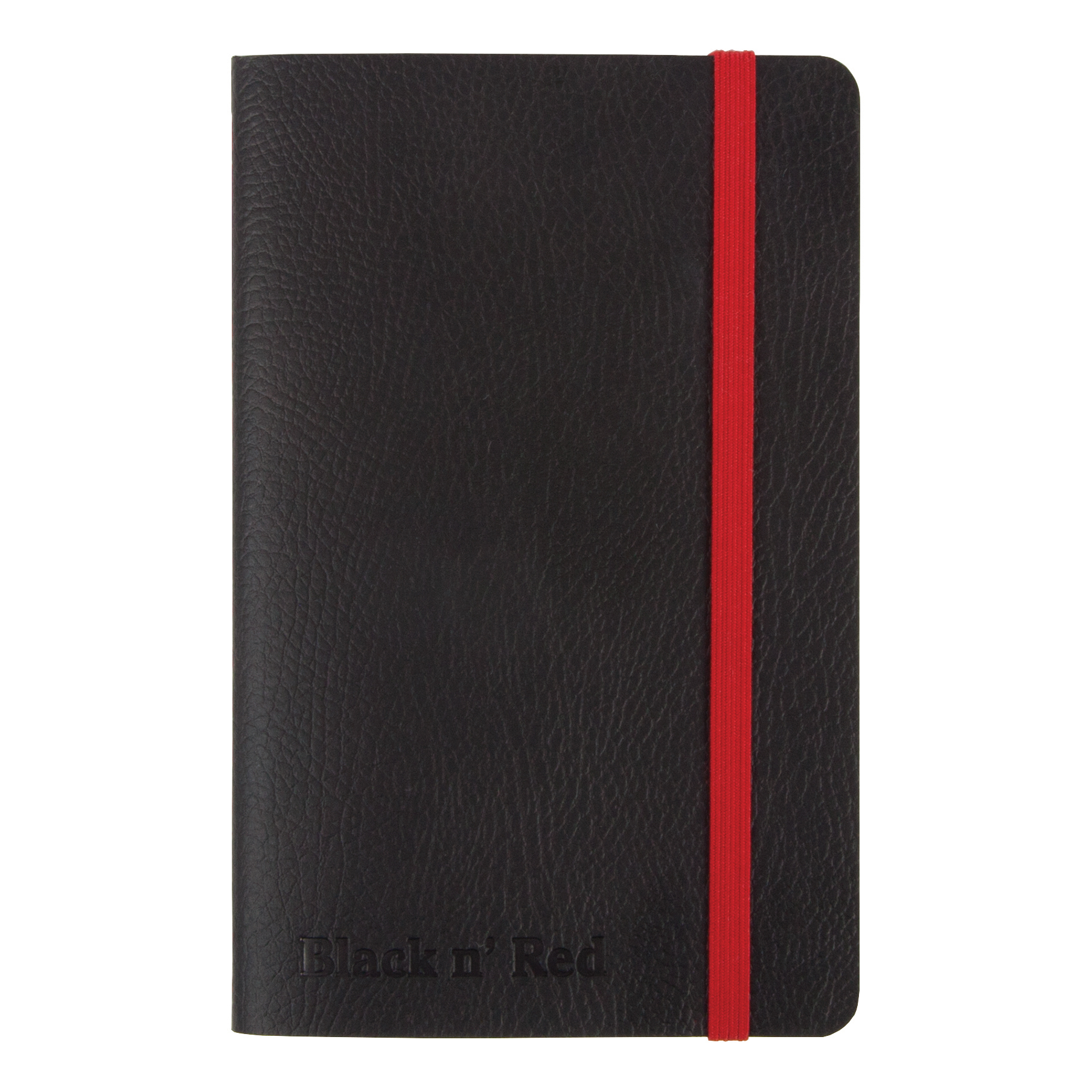Notebooks Black By Black n Red Business Journal Soft Cover Ruled and Numbered 144pp A6 Ref 400051205