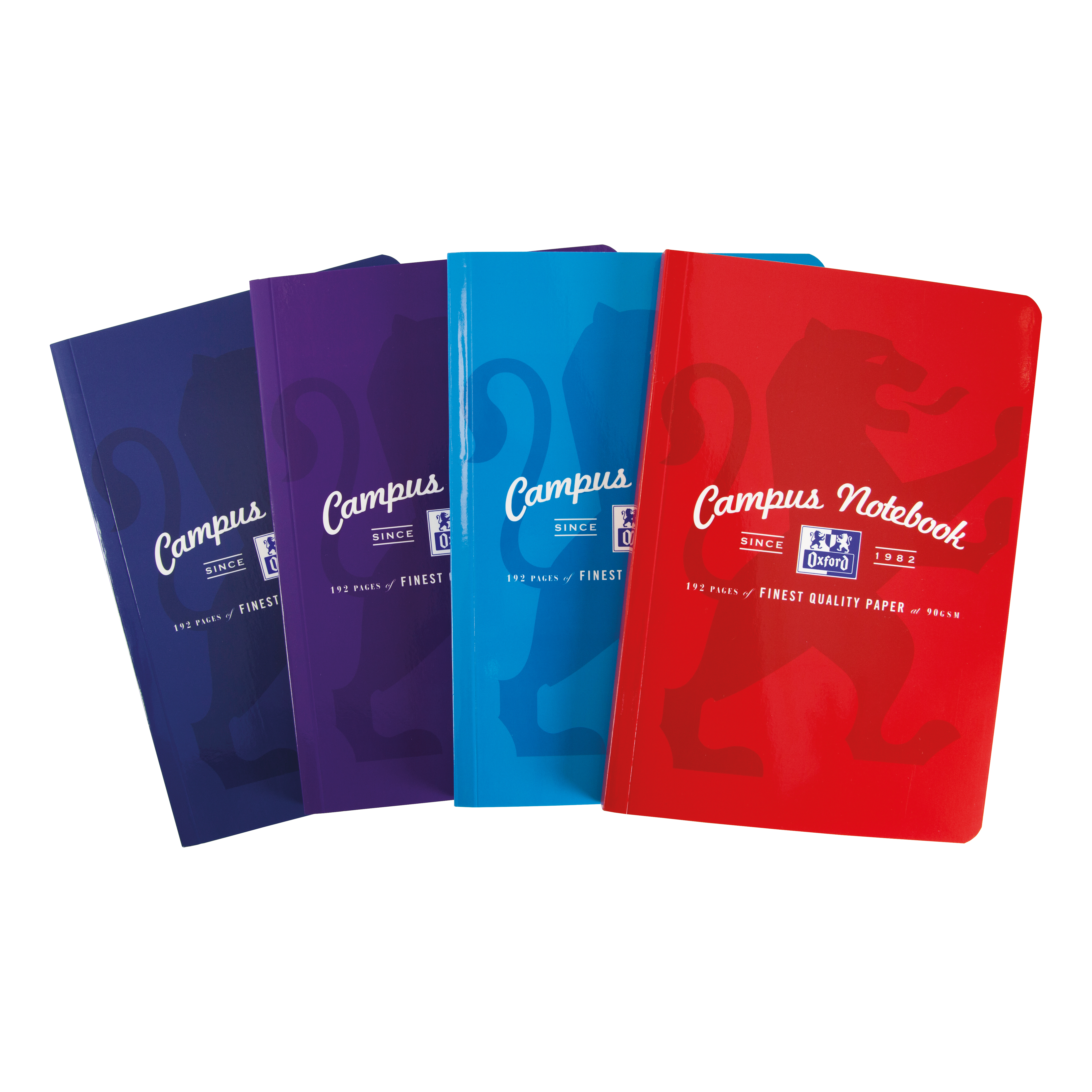 Oxford Campus Notebook Casebound 90gsm Ruled and Margin 192pp B5 Assorted Ref 400086277 [Pack 5]