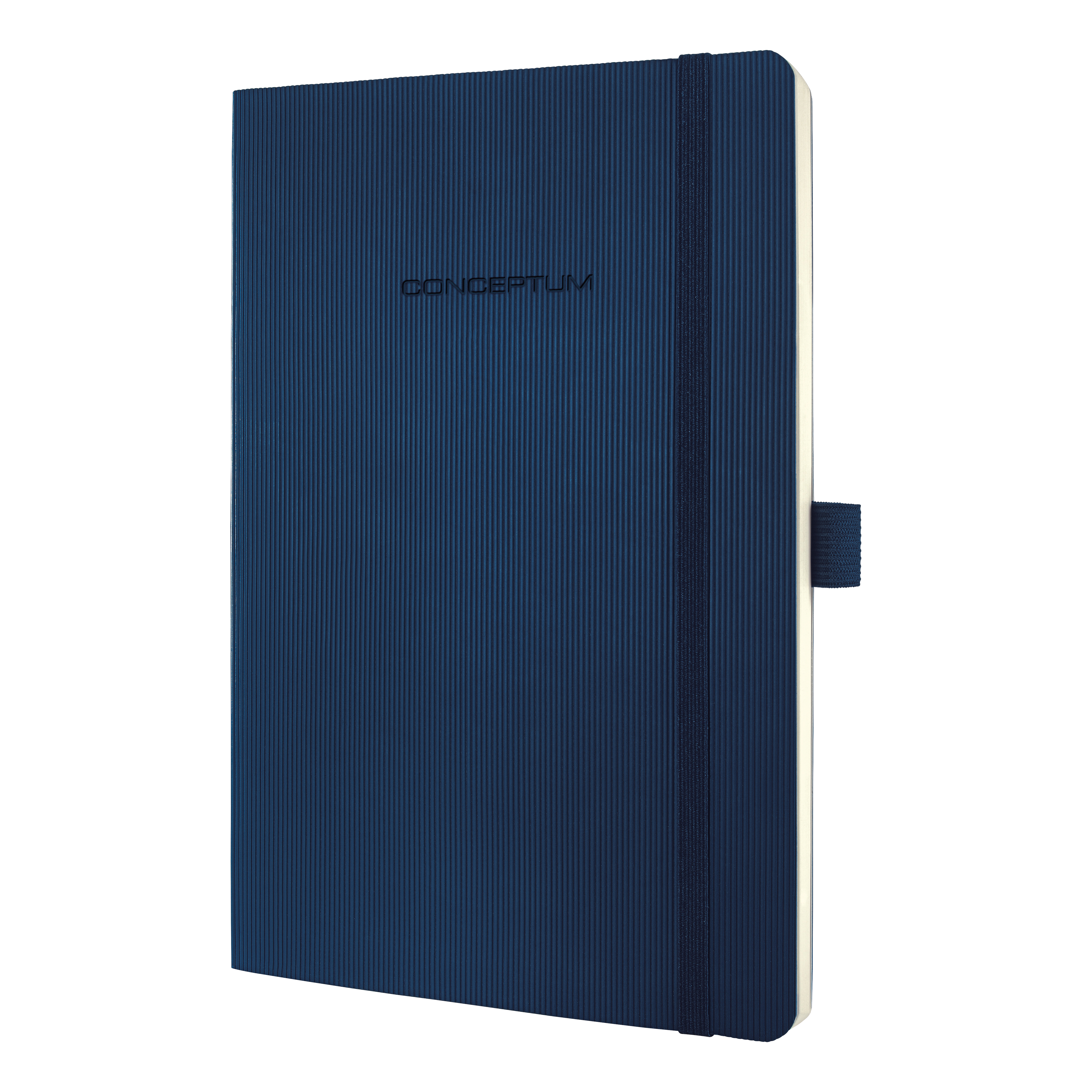 Image for Sigel Conceptum Notebook Soft Cover 80gsm Ruled and Numbered 194pp PEFC A5 Midnight Blue Ref CO327