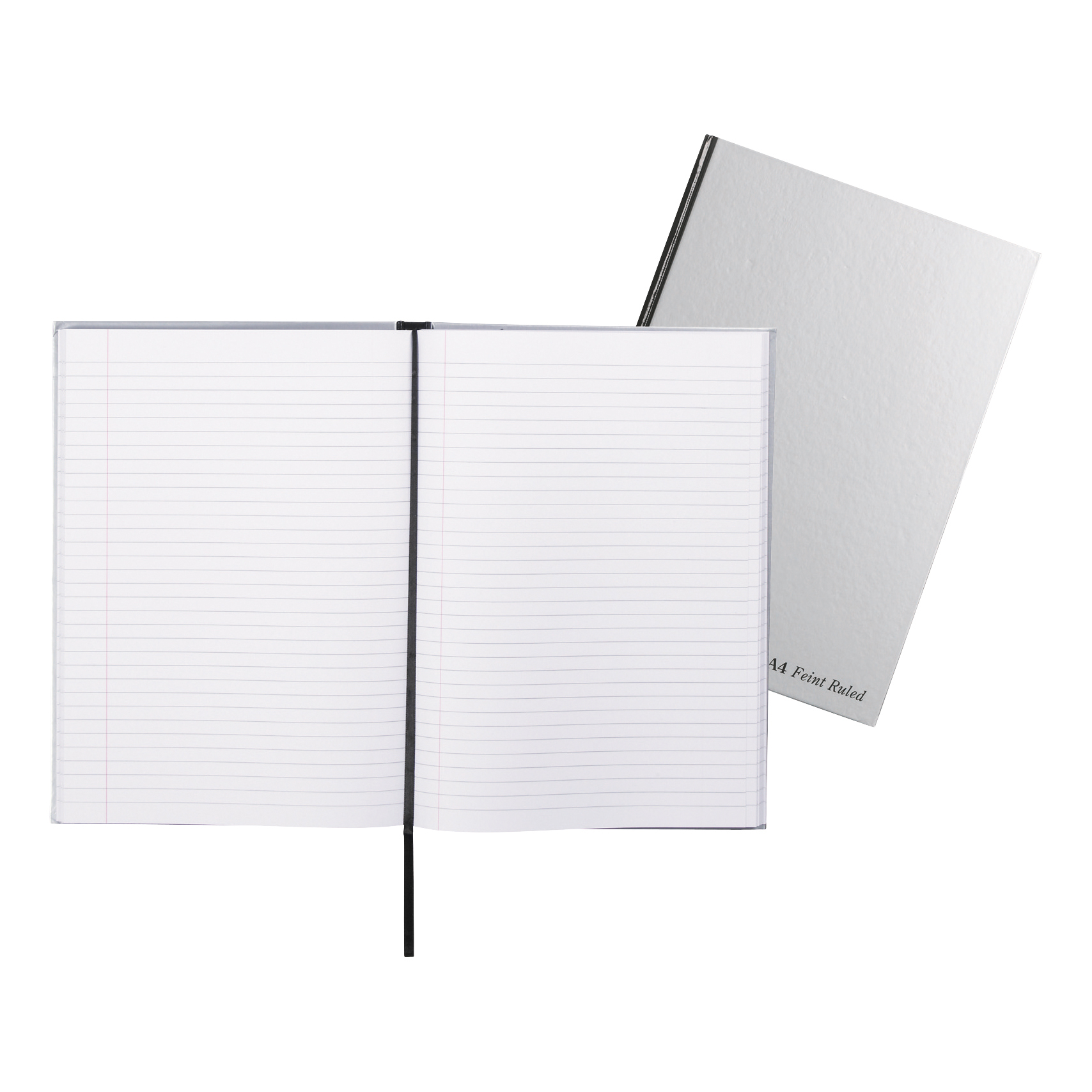 Pukka Pad Notebook Casebound Hardback 90gsm Ruled Margin 192pp A4 Silver Ref RULA4 Pack 5