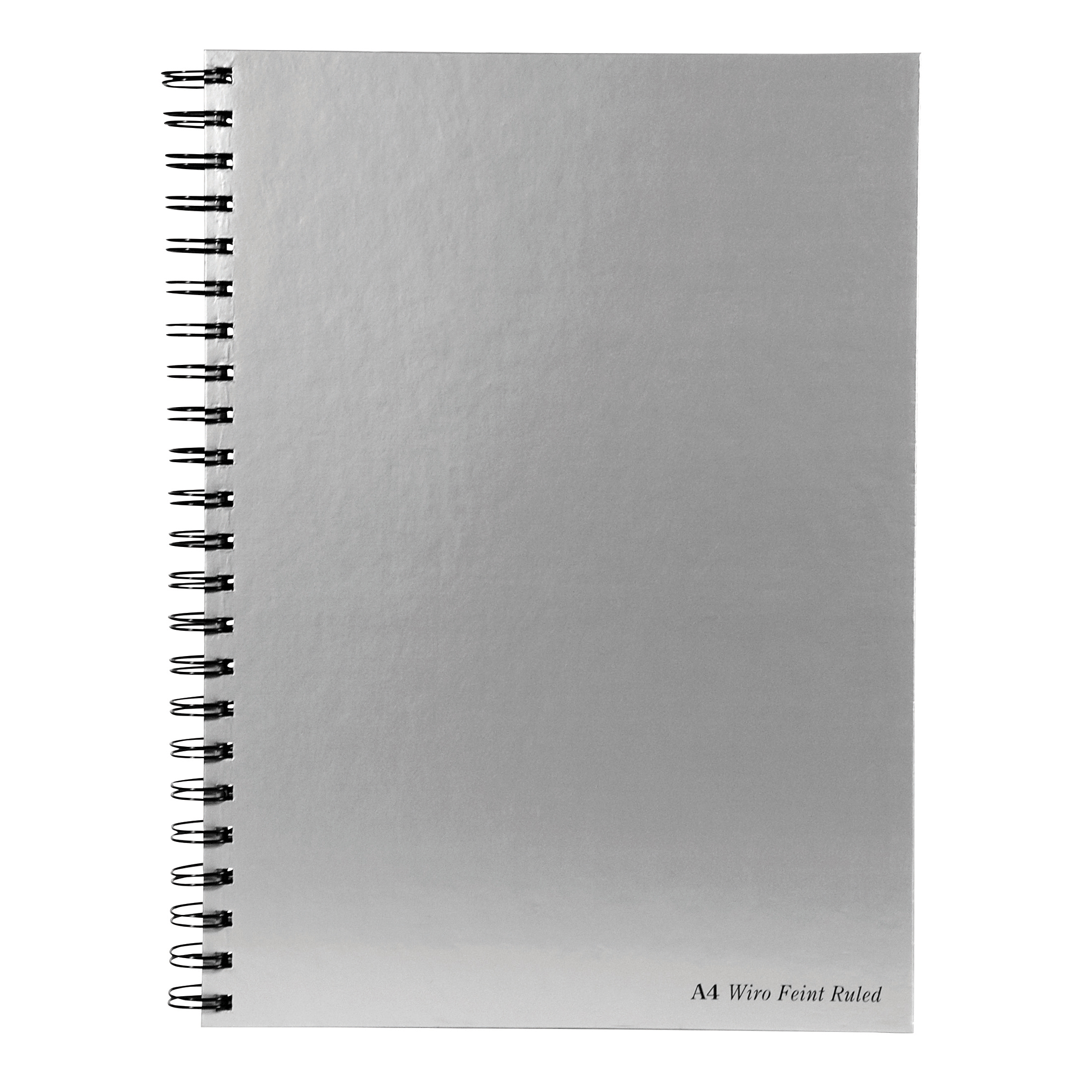 Pukka Pad Notebook Wirebound Hardback 90gsm Ruled Margin Perforated 160pp A4 Silver Ref WRULA4 Pack 5
