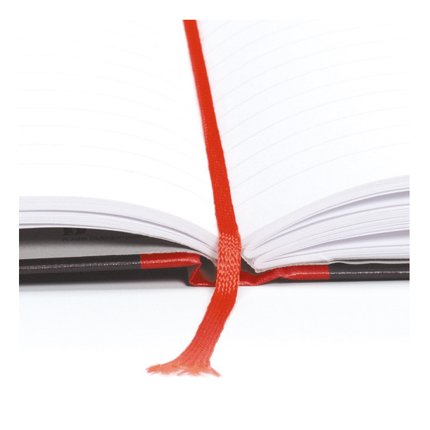 Black n Red Notebook Casebound 90gsm Ruled Recycled 192pp A4 Ref 100080530 Pack 5