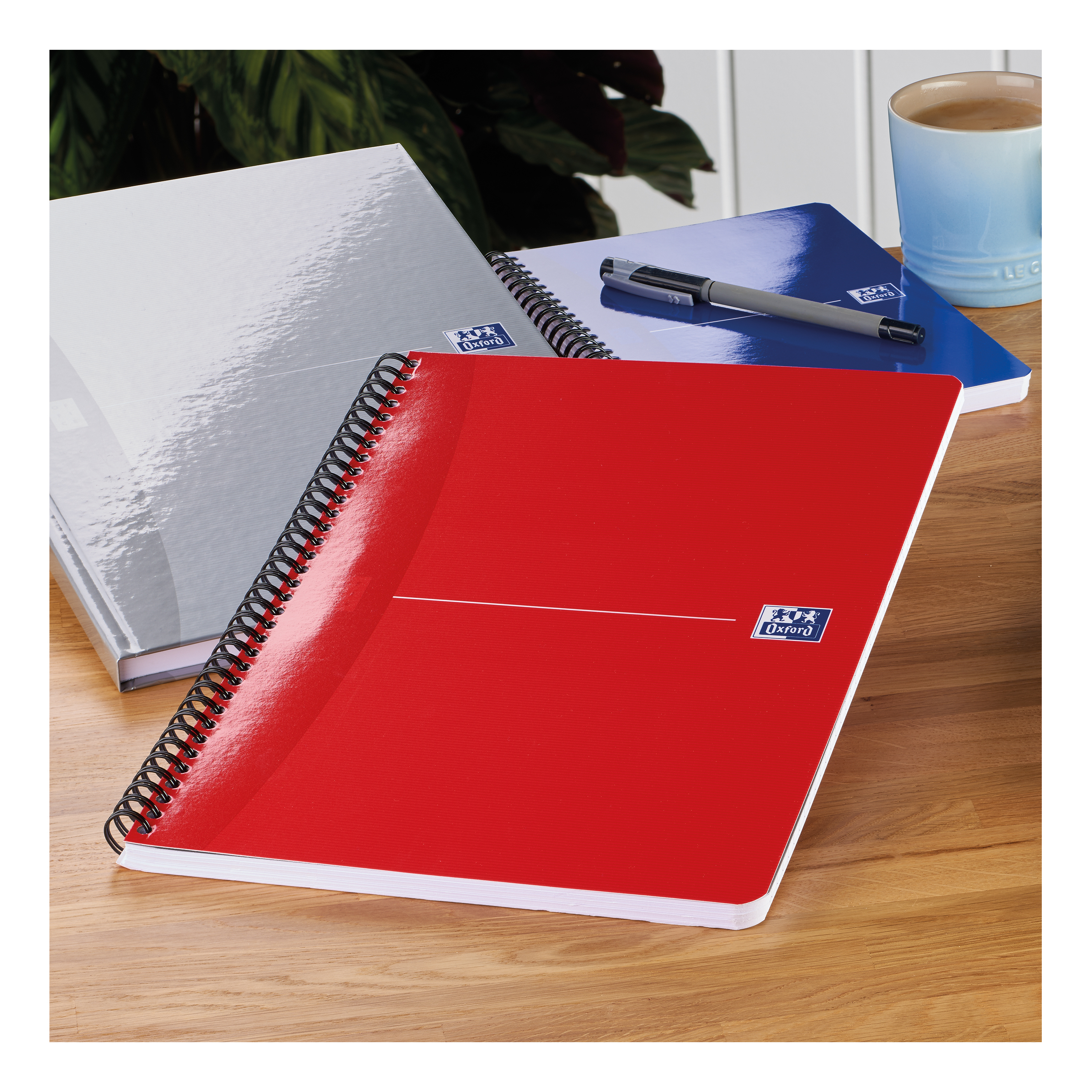 Oxford Office Nbk Wirebound Soft Cover 90gsm Smart Ruled 180pp A4 Assorted Colour Ref 100105331 Pack 5