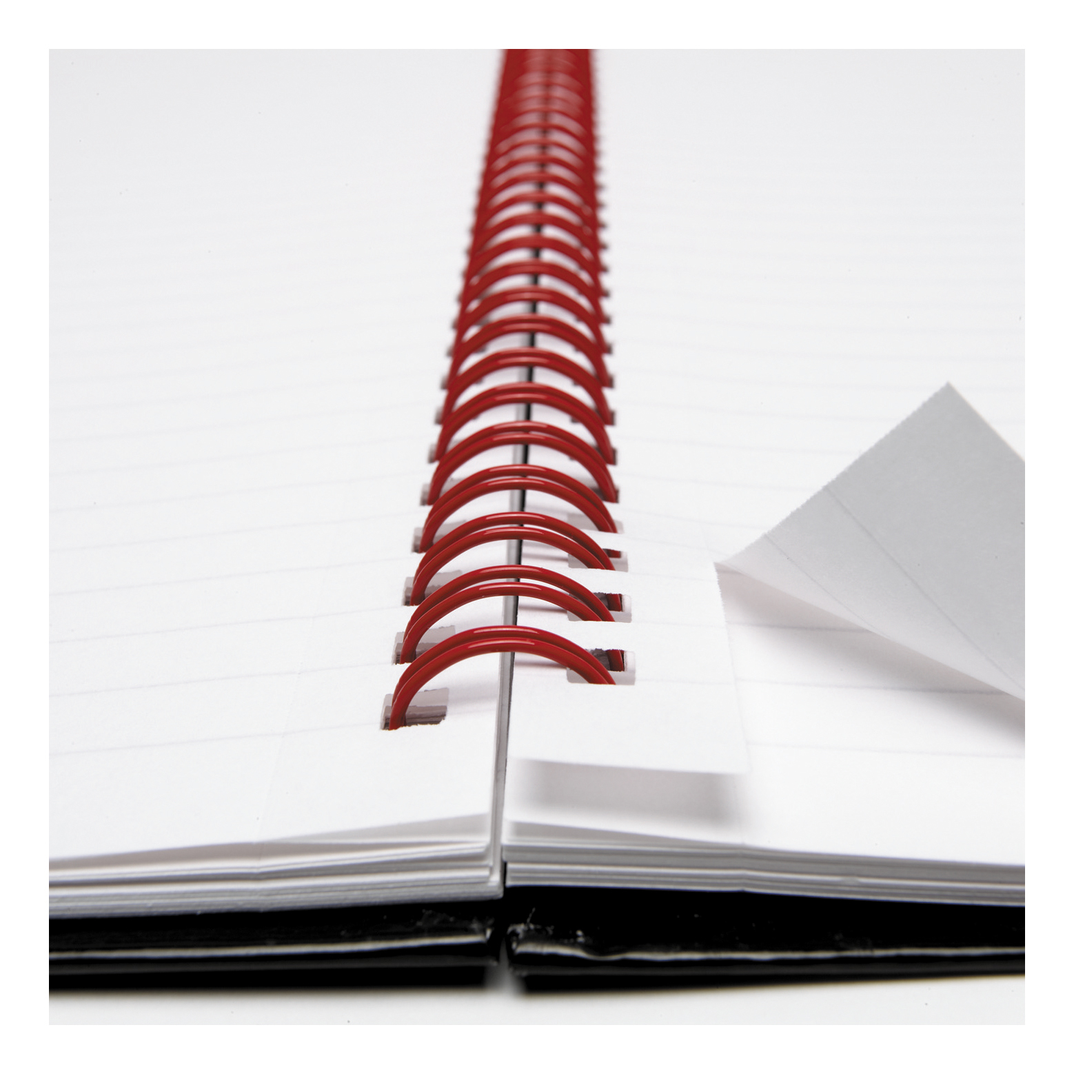 Black n Red Notebook Wirebound 90gsm Ruled Margin Perforated 140pp A5+ Matt Black Ref 100080192 Pack 5