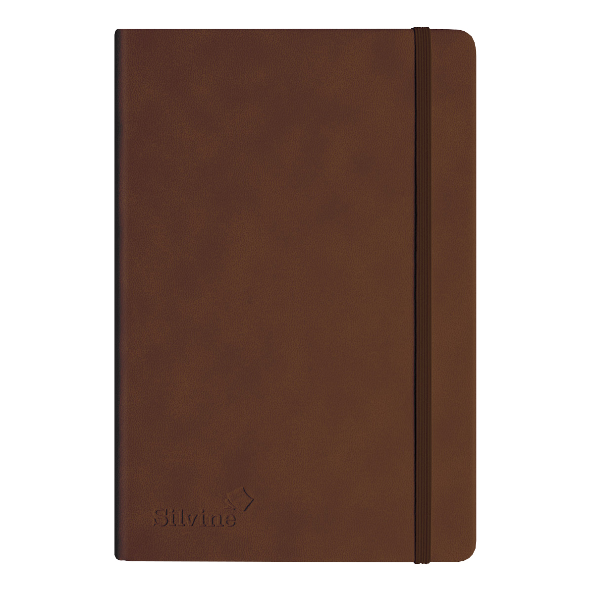 Silvine Executive Soft Feel Notebook 80gsm Ruled with Marker Ribbon 160pp A4 Tan Ref 198TN