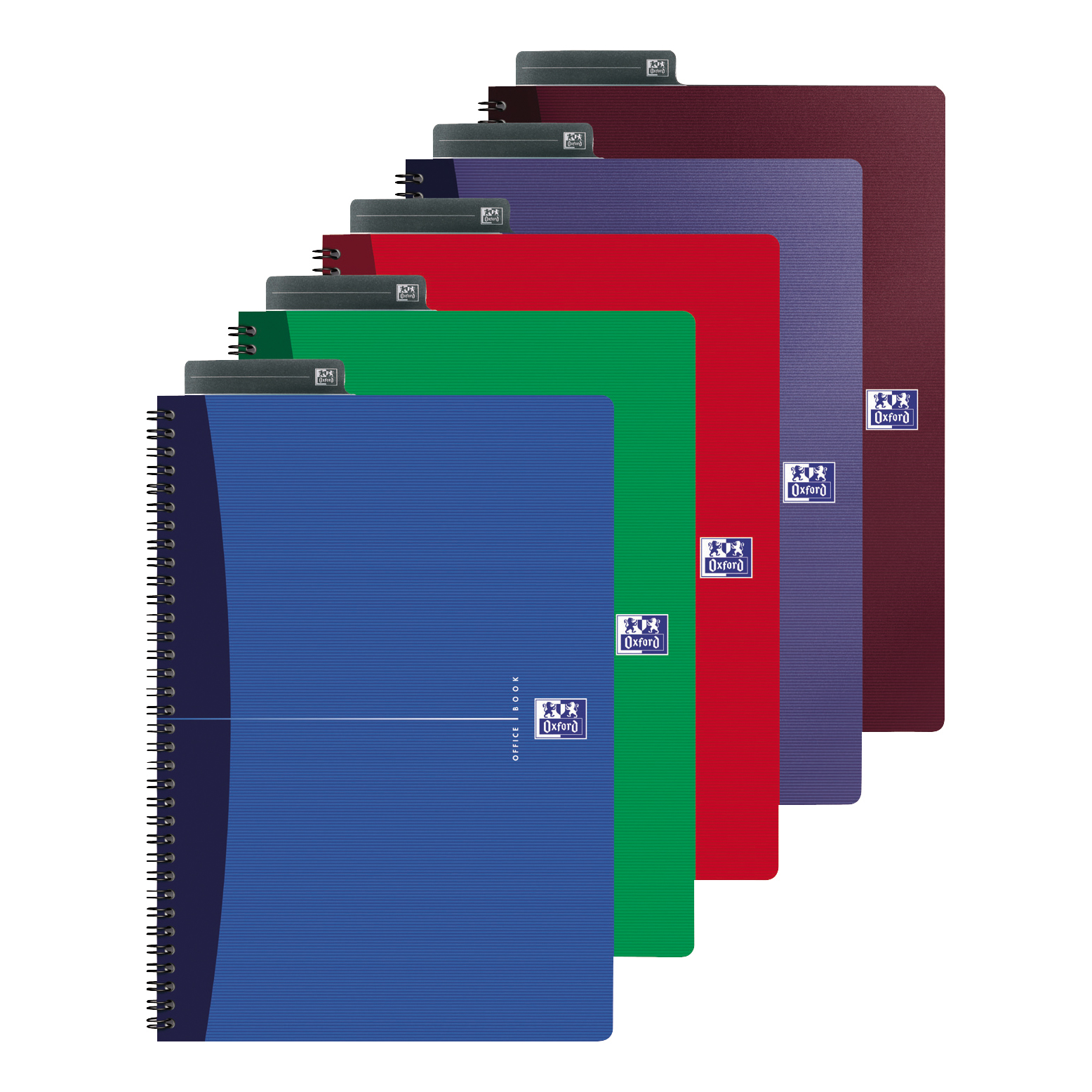 Oxford Office Nbk Wirebound Soft Cover 90gsm Smart Ruled 180pp A5 Assorted Colour Ref 100103741 Pack 5