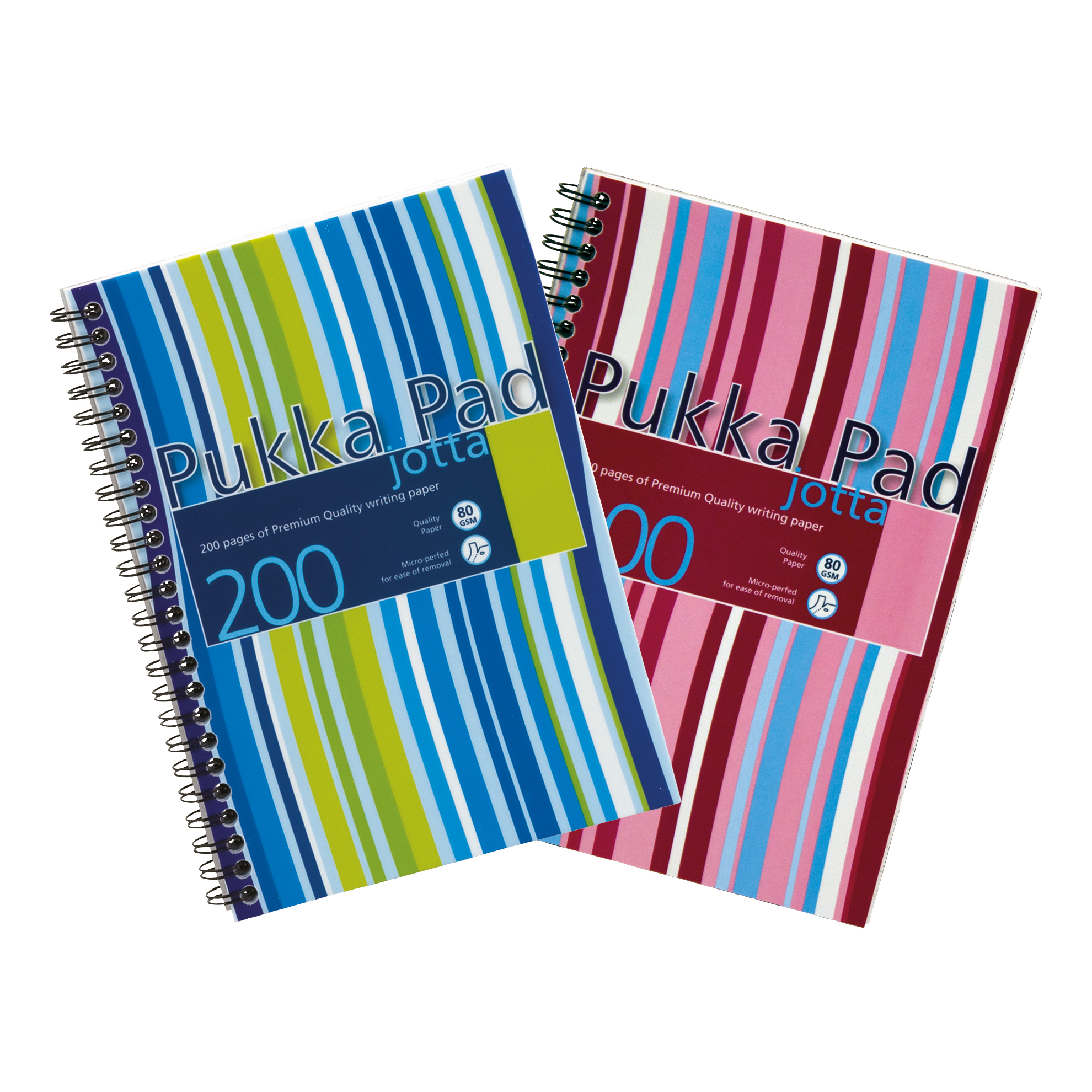 Pukka Pad Jotta Notebook Poly Wirebound 80gsm Ruled Perforated 200pp A5 Assorted Ref JP021 3/4 Packed 3