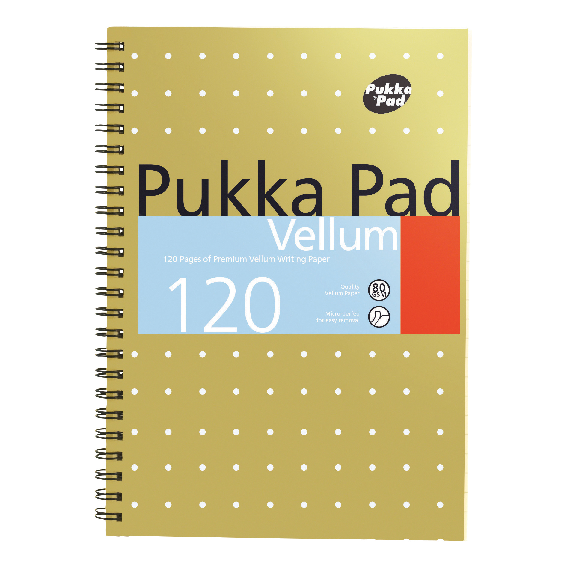 Pukka Pad Vellum Notebook Wirebound 80gsm Ruled Perforated 120pp A5 Ref VJM/2 [Pack 3]